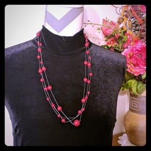 Jewelry - Red Multistrand Necklace